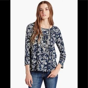 Lucky Brand Omala Floral Top